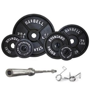 Serious steel olympic weight set and bar