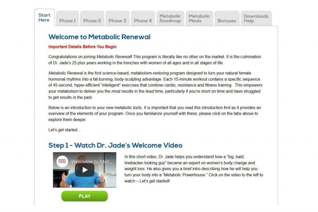 metabolic renewal introduction video