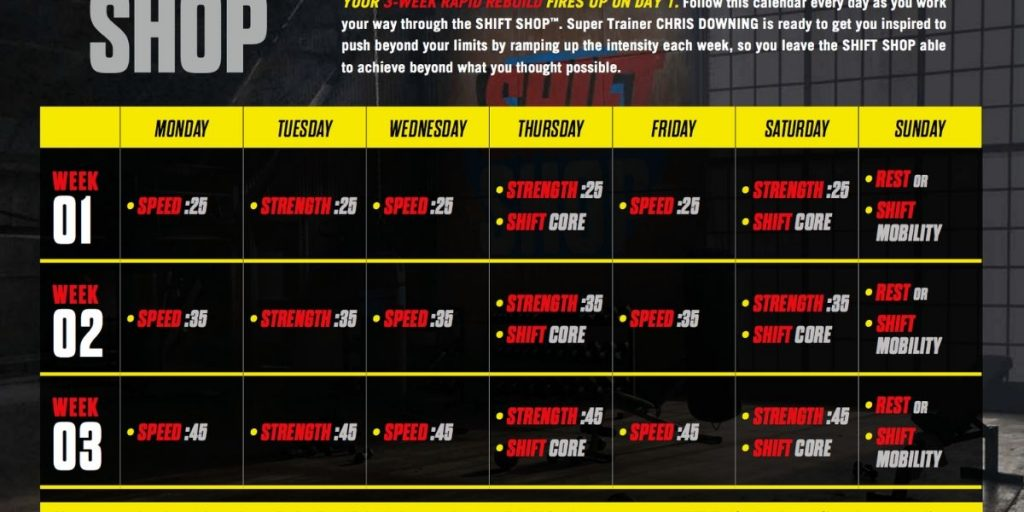 shift shop calendar