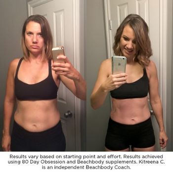 80 day obsession results - Kitreena team beachbody coach