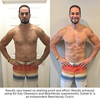 80 day obsession results Daniel D - independent beachbody coach