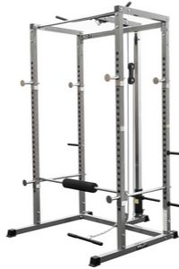 Valor Fitness BD-7 Power Rack w/LAT Pull Attachment and Other Bundle Options