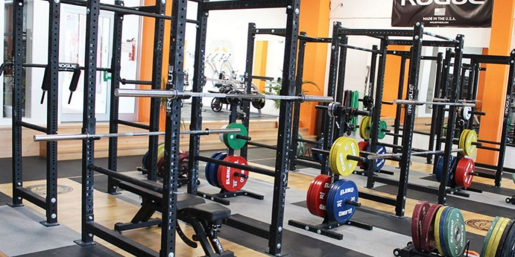 power racks in gym