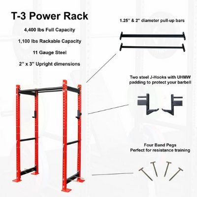 T-3 power rack features